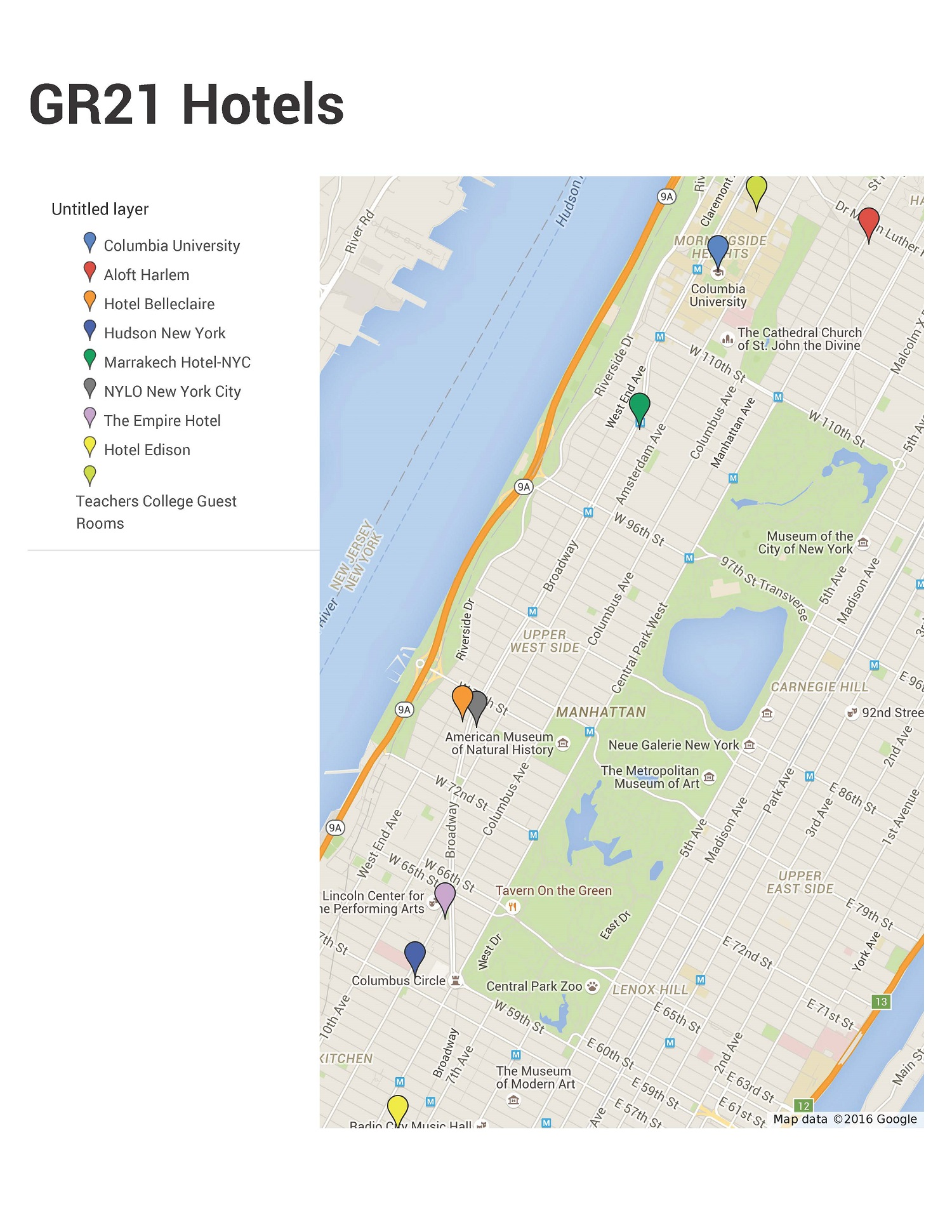 St International Conference On General Relativity And - Google map nyc hotels